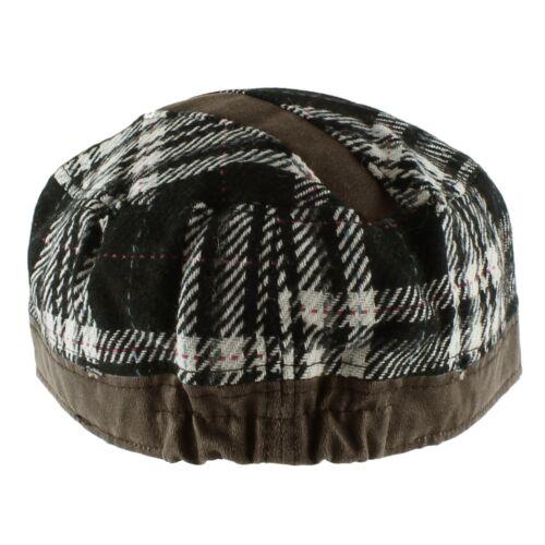 Wool Plaid Stud Sherpa Baseball Army Cap Hat Warm Soft Fall Winter Women/'s Men/'s
