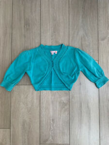 Details about MONSOON SHRUG CARDIGAN TURQUOISE GIRLS AGE 8 10 YEARS