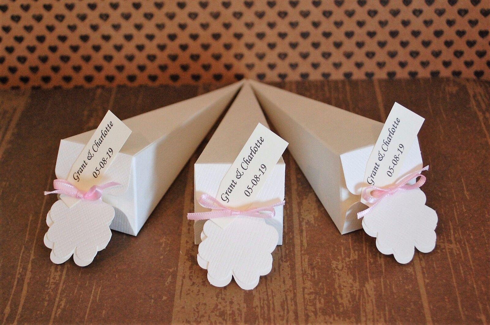 Nombres Personalizados relleno biodegradable Confeti Confeti biodegradable conos boda real Pétalo De Rosa 8e3e09