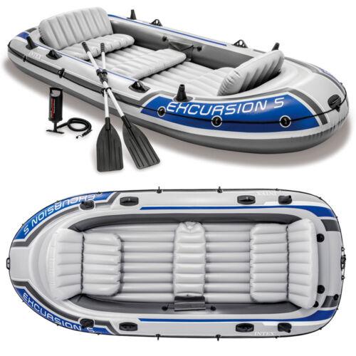 Pumpe Angelboot für 5 Personen von INTEX Paddel Schlauchboot Set Excursion 5