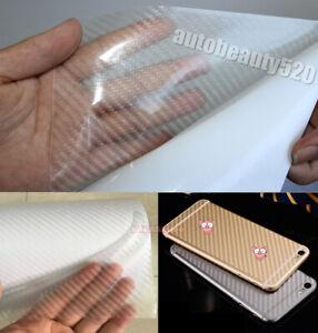 30x127cm-Hot-Car-3D-Carbon-Fiber-Texture-Grain-Vinyl-Wrap-Sticker-Decal-Clear-KW