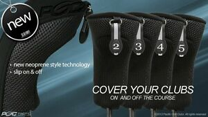 EASY-ON-amp-OFF-HYBRID-HEAD-COVERS-2-3-4-5-SET-NEW-THICK-GOLF-CLUB-BLACK-HEADCOVER