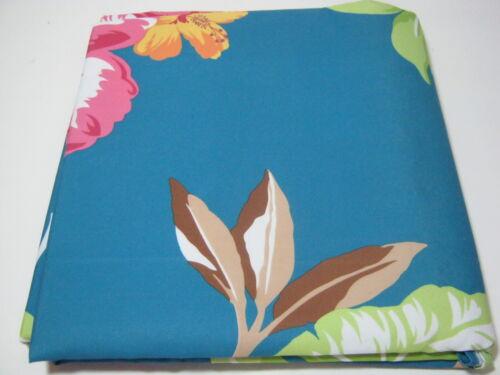 NEW BALTIC LINEN Fabric BLUE SHOWER CURTAIN KIKI FLORAL Flower LEAF NIP