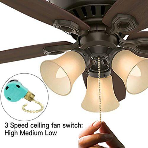ZE-268S6 3-Speeds Zing Ear Ceiling Fan Switch Wall Light Pull Chain Switch