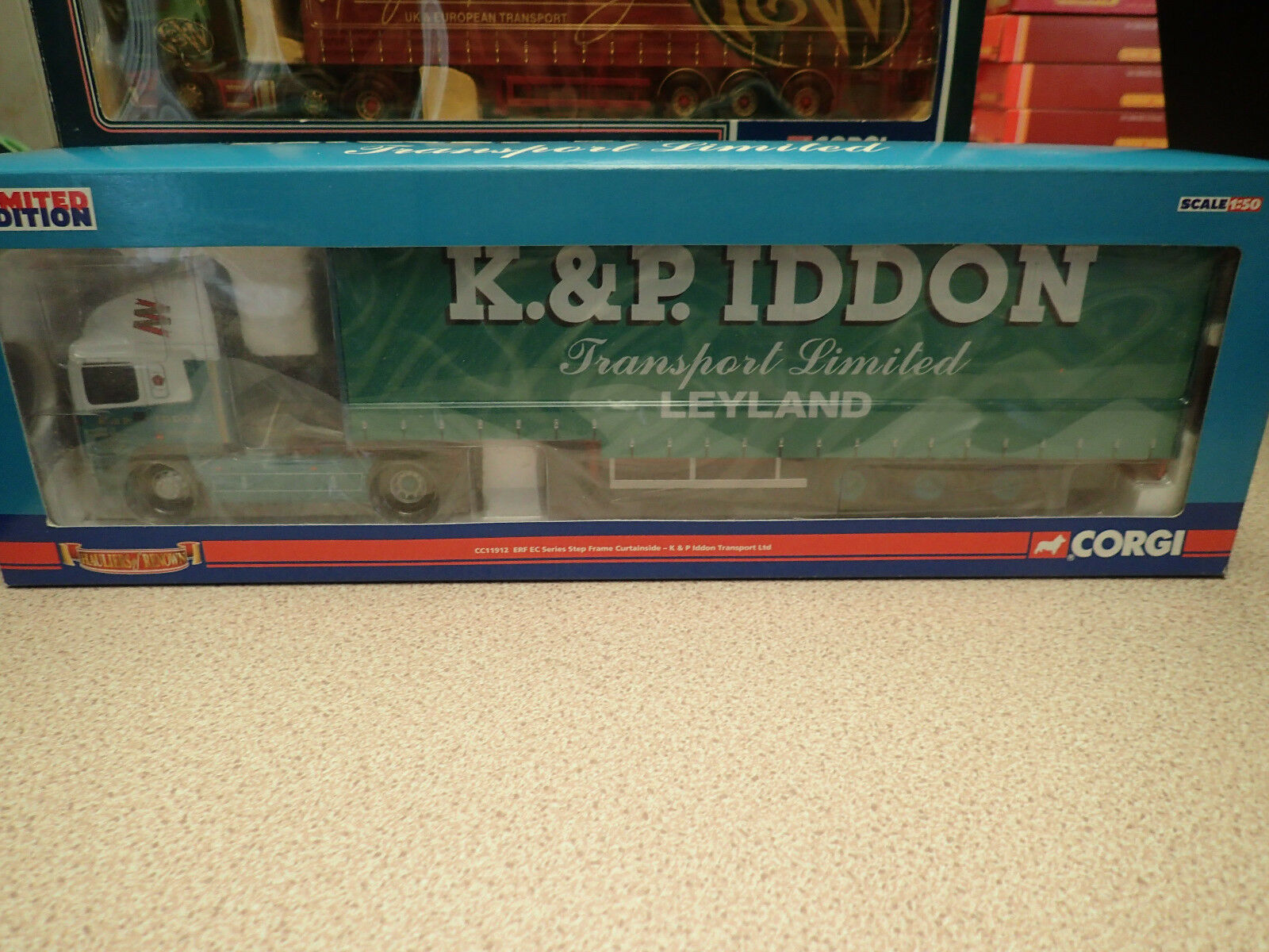 Corgi Ltd Edn CC11912 ERF EC Series Curtainside K&P Iddon Leyland Untouched