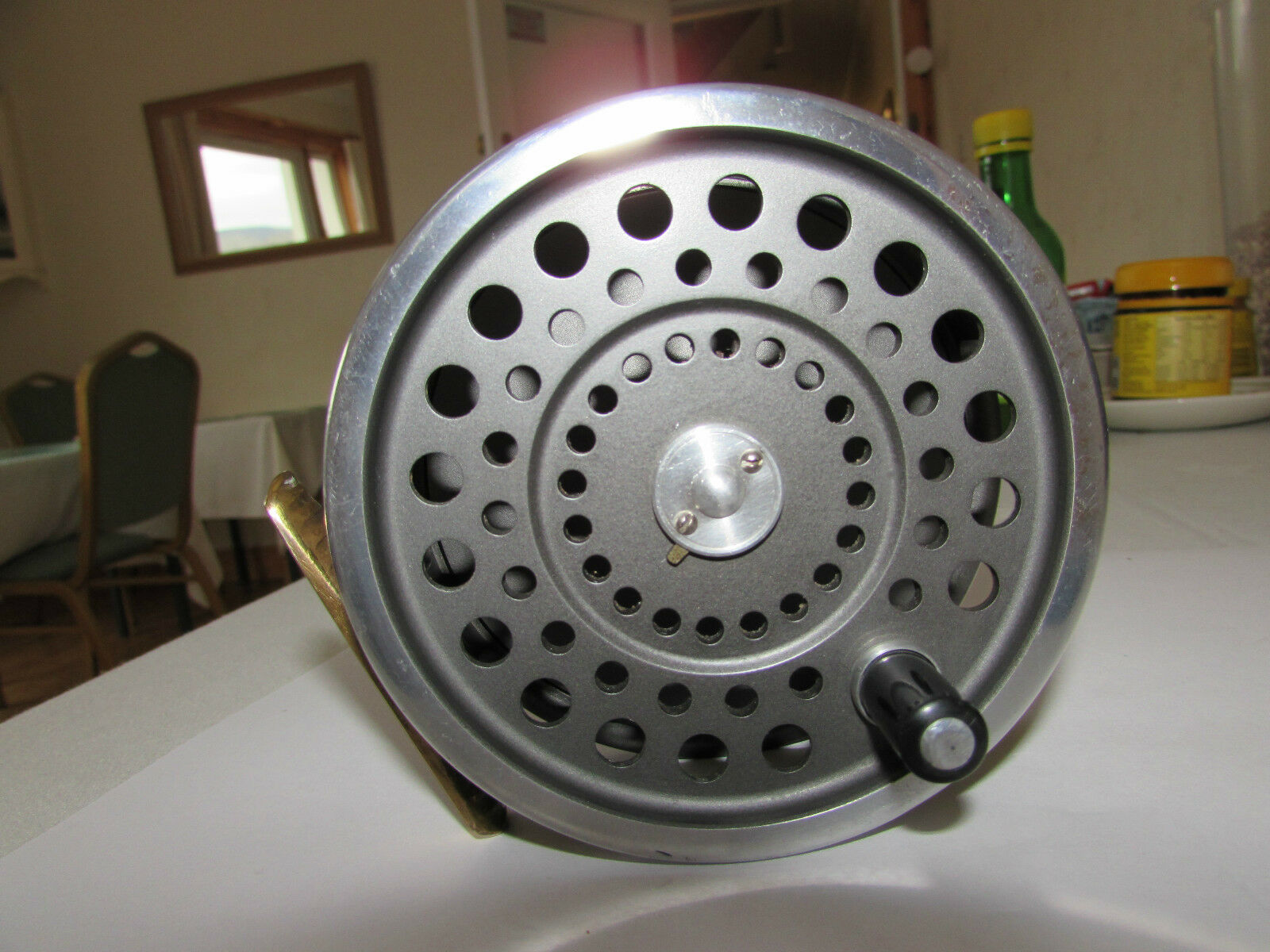 V buona VINTAGE ORIGINALE Hardy Marchese no. 2 Salmone Fly Fishing Reel...,.,