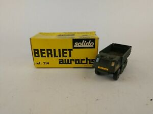 SOLIDO-BERLIET-AUROCHS-MILITARY-TRUCK-Ref-214-Made-In-France