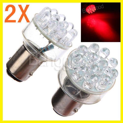 2x 1157 BAY15D P21//5W 380 12 DEL voiture rouge frein arrière stop Lampe Ampoules S30