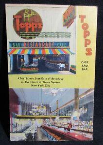Postcard Cafe Bar Times Square Strike Back Cancer Society Posted 1961 VTG
