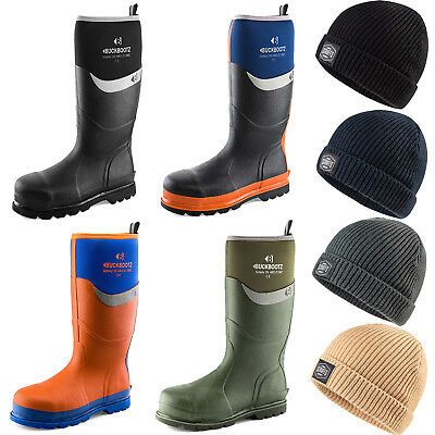 Buckler Waterproof Safety Wellingtons & Scruffs Fishermans Hat (various Options) GroßEs Sortiment