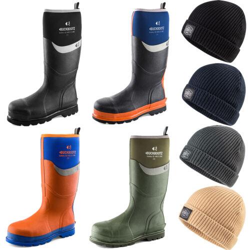 Various Options Buckler Waterproof Safety Wellingtons /& Scruffs Fishermans Hat