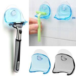 Plastic-Super-Suction-Cup-Razor-Rack-Bathroom-Shower-Razor-Organizer-Holder