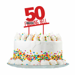 Incredible 50Th Birthday Cake Topper Party Decorations 50 Today For Men Funny Birthday Cards Online Elaedamsfinfo