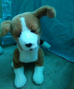Fur Real Scamps My Playful Pup 2004 Tiger Brand Tri-color Interactive Toy
