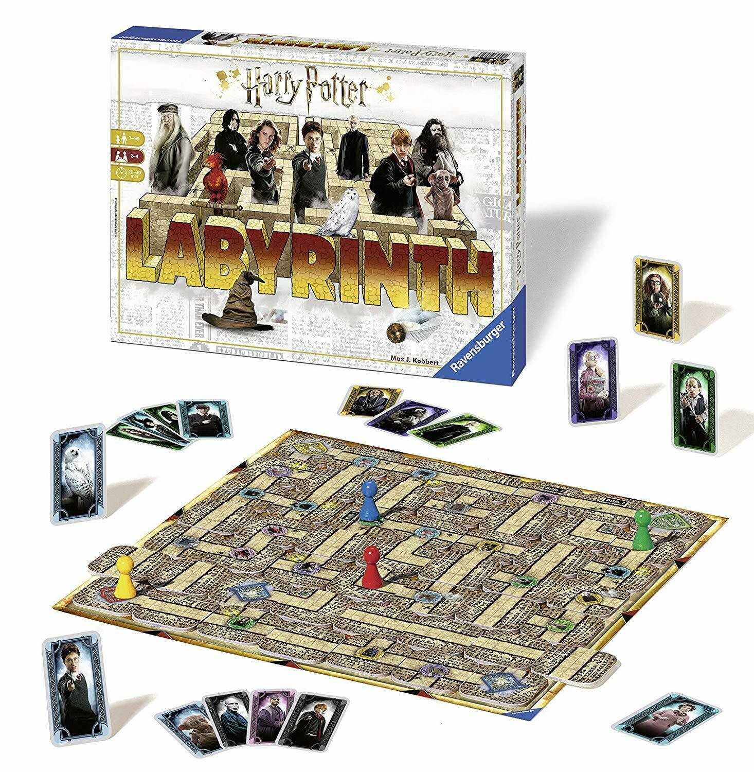 Harry Potter Labyrinth Game - Board Game  The Moving Maze - Hogwarts