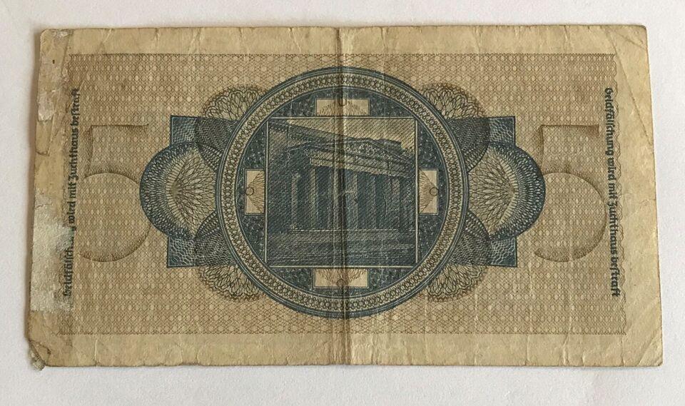 Danmark, sedler, 5 Reichmark