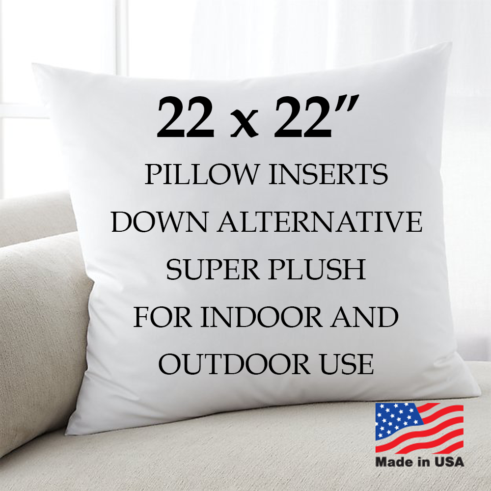 22x22 Discount Pillow Factory Throw Pillow Euro Form Inserts USA Hypoallergenic
