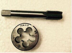1pc HSS M14 X 1mm Plug Right Tap and 1pc M14 X 1mm Right Die Threading Tool