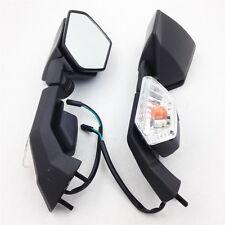 BLACK REAR VIEW BACK MIRROR Turn Signals For Kawasaki Ninja ZX6R 2005 2006 2007