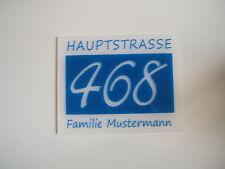 Hausnummer-Schild  ca. 240 x 310 x 5mm Wunschtext Neu