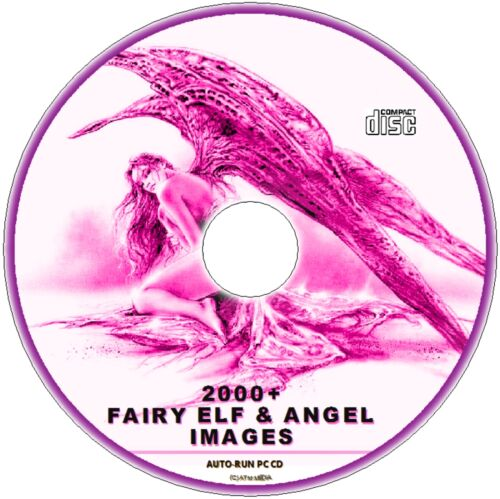 FAIRY ELF /& ANGELS 2000 DECOUPAGE FANTASY IMAGES ALPHABET NUMBER VICTORIAN ETC