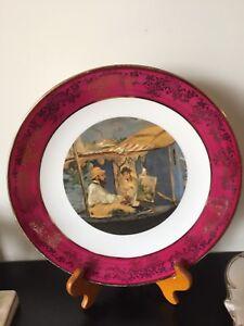 Limoges-Plate-034-Renoir-Le-Moulin-De-La-Galette-034-Collectible-Free-Shipping