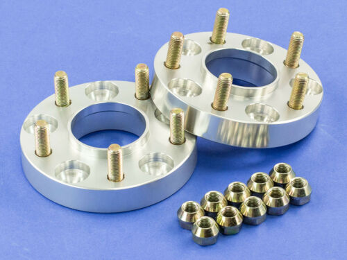 "Silver Hubcentric Wheel Spacers5x10056.112x1.25 1/"" 25MM"