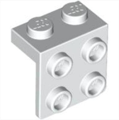 ☀️NEW LEGO 25x WHITE Angle Plate Bracket 1 x 2-2 x 2 BULK Parts Building lot