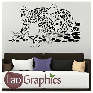 Cheetah-Head-Wall-Art-Sticker-Large-Vinyl-Transfer-Graphic-Decal-Home-Decor-CA9