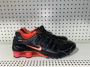 Details about RARE Nike Shox NZ Mens Leather Athletic Running Shoes Size 12  Black Crimson Red