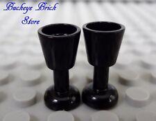 LEGO Minifig BLACK GOBLET Wine Water Goblet Drinking Glass - Kitchen NEW
