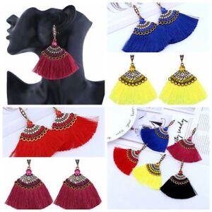 Women-Crystal-Bohemian-Long-Tassel-Dangle-Fringe-Drop-Stud-Earrings-Gift