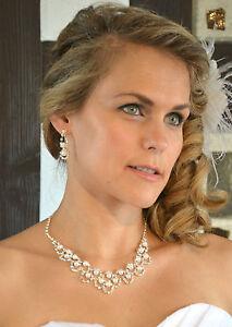 Set-Collier-Collana-Perline-Strass-Sposa-Gioielli-Matrimonio-Gioielli-Sposa-Matrimonio