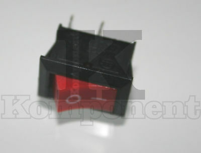 Pulsante Interruttore ON OFF 2 Pin 6A 250V SWITCH ROCKER