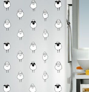 Image Is Loading Lana Black Sheep Shower Curtain 70 7 8x78