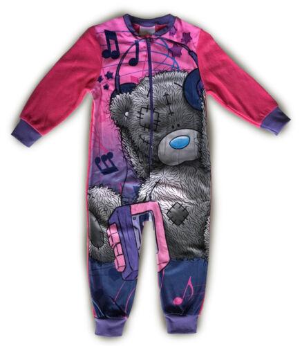 BOYS GIRLS FLEECE SLEEPSUIT ALL IN ONE PYJAMAS WARM KIDS CHILDRENS CHARACTER
