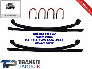 Un par de Resorte Delantero Bush Ford Transit MK7 2006-2015 2.2 2.4