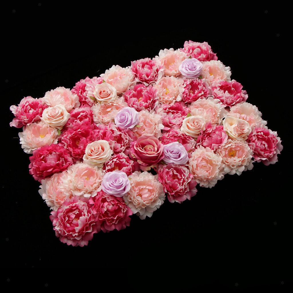 6x élégante bleumenwand roses pilier de mariage arrière-plan