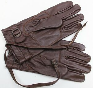 SWEDISH-ARMY-OFFICERS-LEATHER-GLOVES-size-LARGE