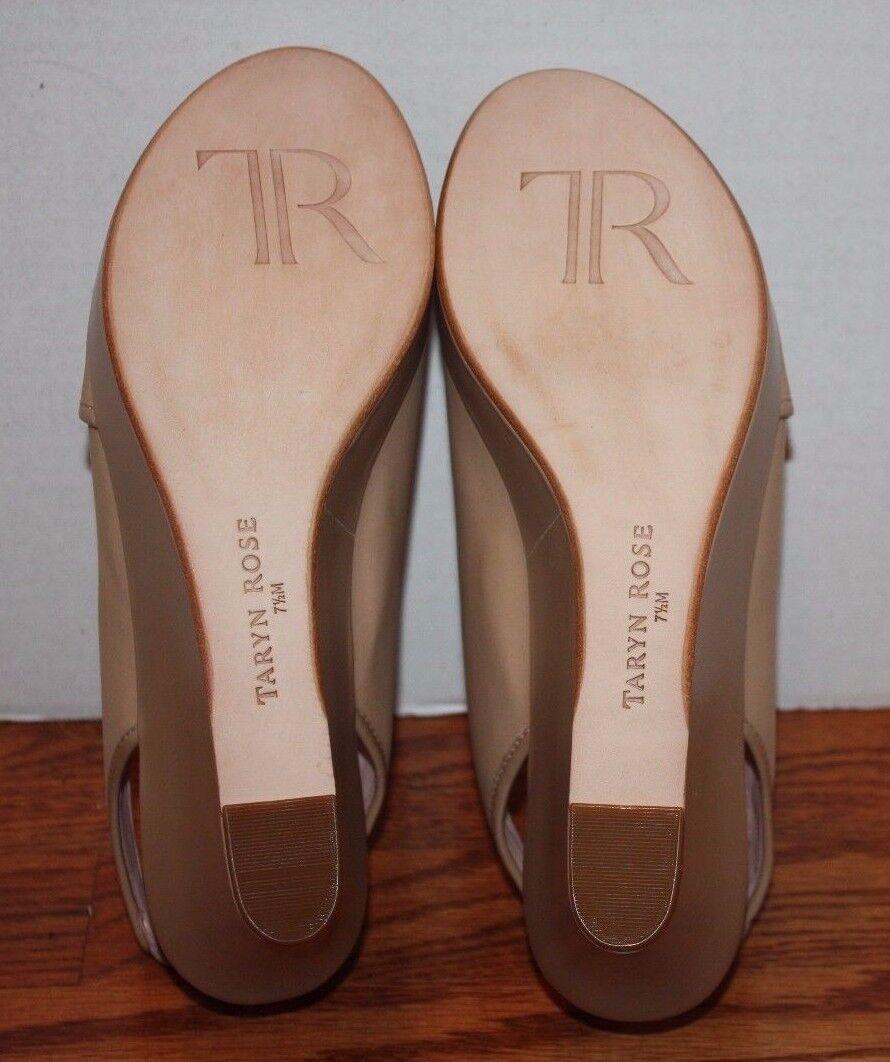 NEW Damenschuhe Taryn Rose Shoshana Beige 7.5 Wedge Platform Schuhes Größe 7.5 Beige M 2d7154