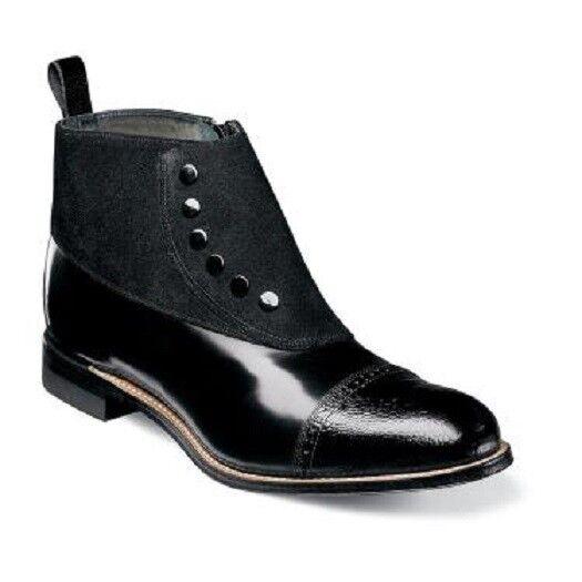 Stacy Adams Demi Boot Madison Cap Toe Side Zip Black  00083-001