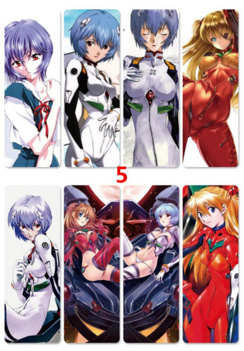 8pcs//set PVC Bookmarks of EVA Neon Genesis Evangelion book mark
