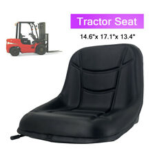 Black Tractor Forklift Seat Steel Frame Pvc Leather With Slide Rail
