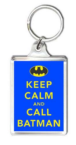 KEEP CALM AND CALL BATMAN KEYRING NEW LLAVERO