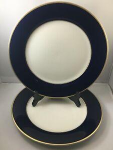 2-Royal-Castle-210-Cobalt-Blue-Gold-Ivory-China-10-3-4-034-Dinner-Plates-Japan