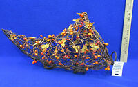 Cornucopia Grape Vine Twig Orange Red Fall Autumn Thanksgiving Pip Berries Leaf