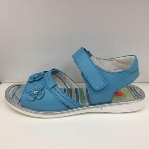 Petasil Laura Girls Leather Sandals in Aqua Eu 31,34 /& 35 Clearance Price