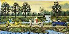 Jane Wooster Scott 'Merrily We Roll Along' Signed LE Offset Lithograph