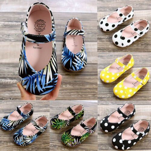 Toddler Kids Girl Children Shoes Leather Single Shoes Soft Sole Princess Shoes L