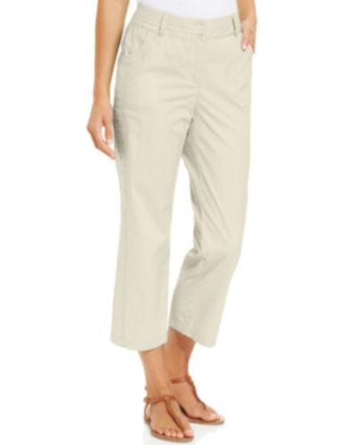 Jm Collection Knit-Waistband Capri Pants COLOUR STONE WALL